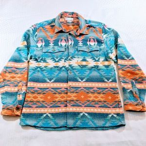 Urban Outfitters Aztec Cotton Shirt Jacket